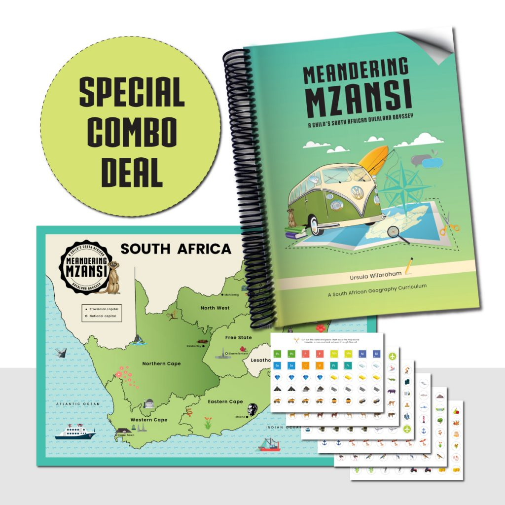 Meandering Mzansi Book & A1 Map & Icon Combo