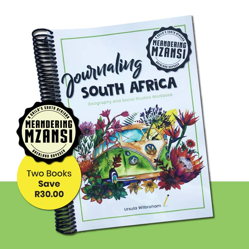 Two Journaling South Africa Geography Workbooks