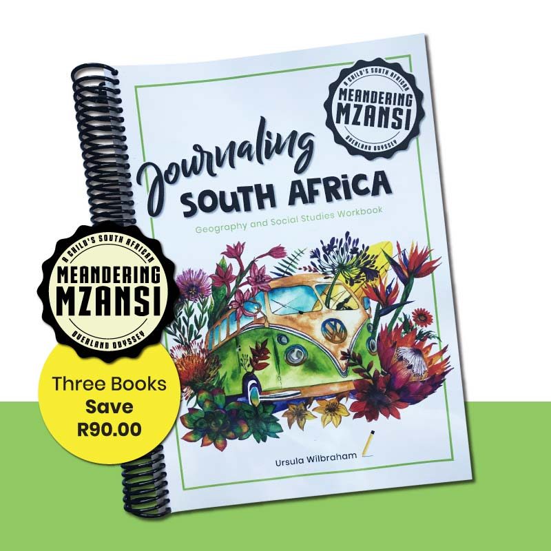 Three Journaling South Africa Geography Workbooks