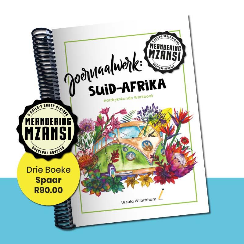 Drie Joernaalwerk: Suid-Afrika Aardrykskunde Werkboeke