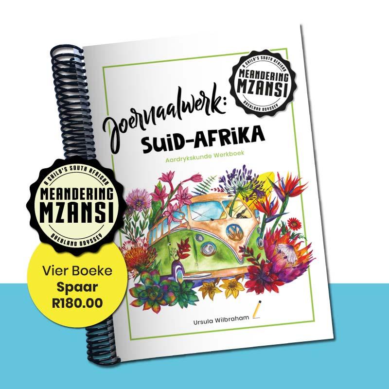 Vier Joernaalwerk: Suid-Afrika Aardrykskunde Werkboeke
